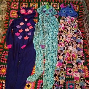 Cat & Jack onesie pajama bundle Medium 7/8